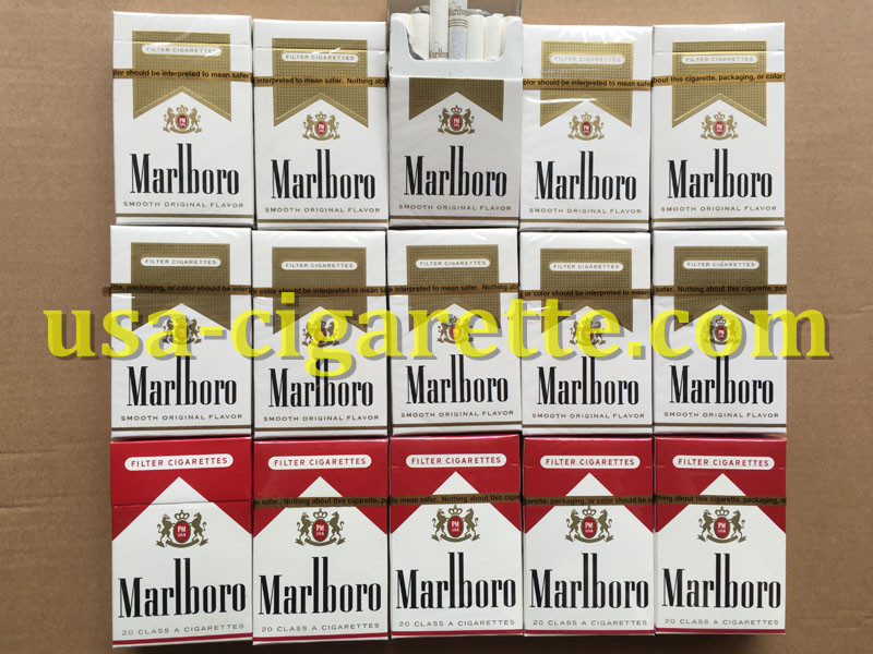 Marlboro Gold Cigarettes 80 Cartons
